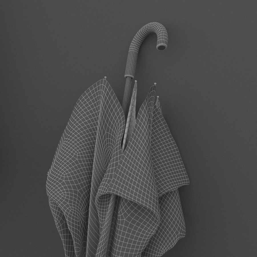 Ubierz buty i parasol royalty-free 3d model - Preview no. 7