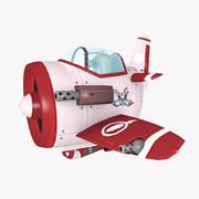 cartoon warplane 3d model