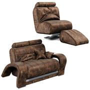 Deri koltuk ve sandalye 3d model