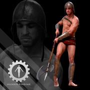 Mannelijke scan - Armored Mick 3d model