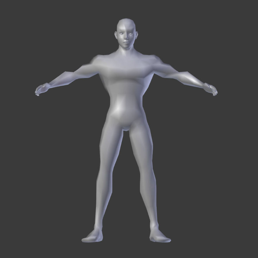 Human Body Male royalty-free 3d model - Preview no. 1