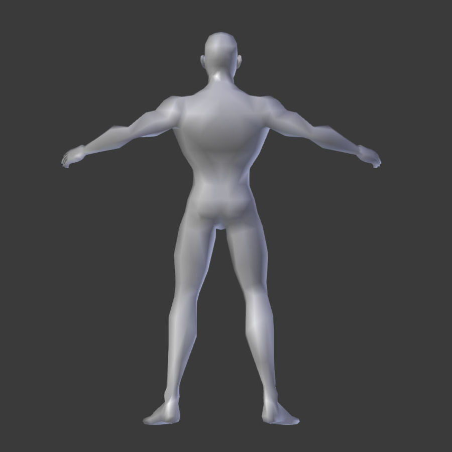 Human Body Male royalty-free 3d model - Preview no. 2