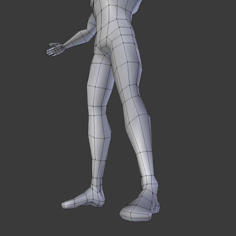 Human Body Male royalty-free 3d model - Preview no. 11