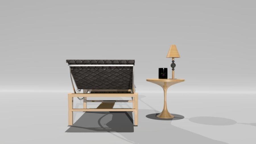 편안한 침대 royalty-free 3d model - Preview no. 4