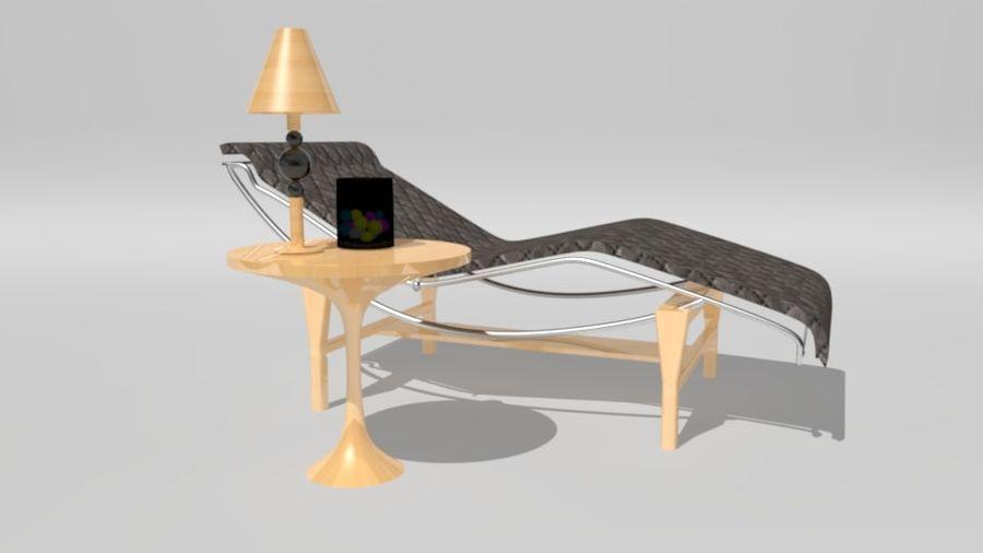 편안한 침대 royalty-free 3d model - Preview no. 1