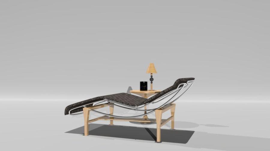 편안한 침대 royalty-free 3d model - Preview no. 3