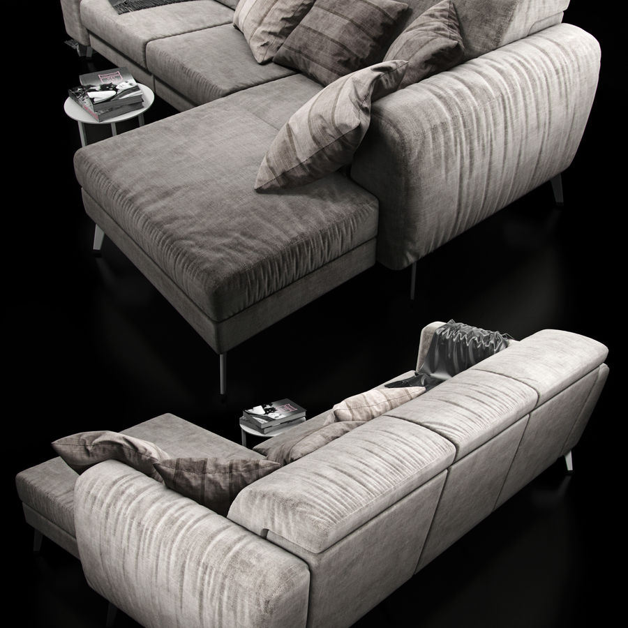 Sofá BoConcept Madison royalty-free modelo 3d - Preview no. 2