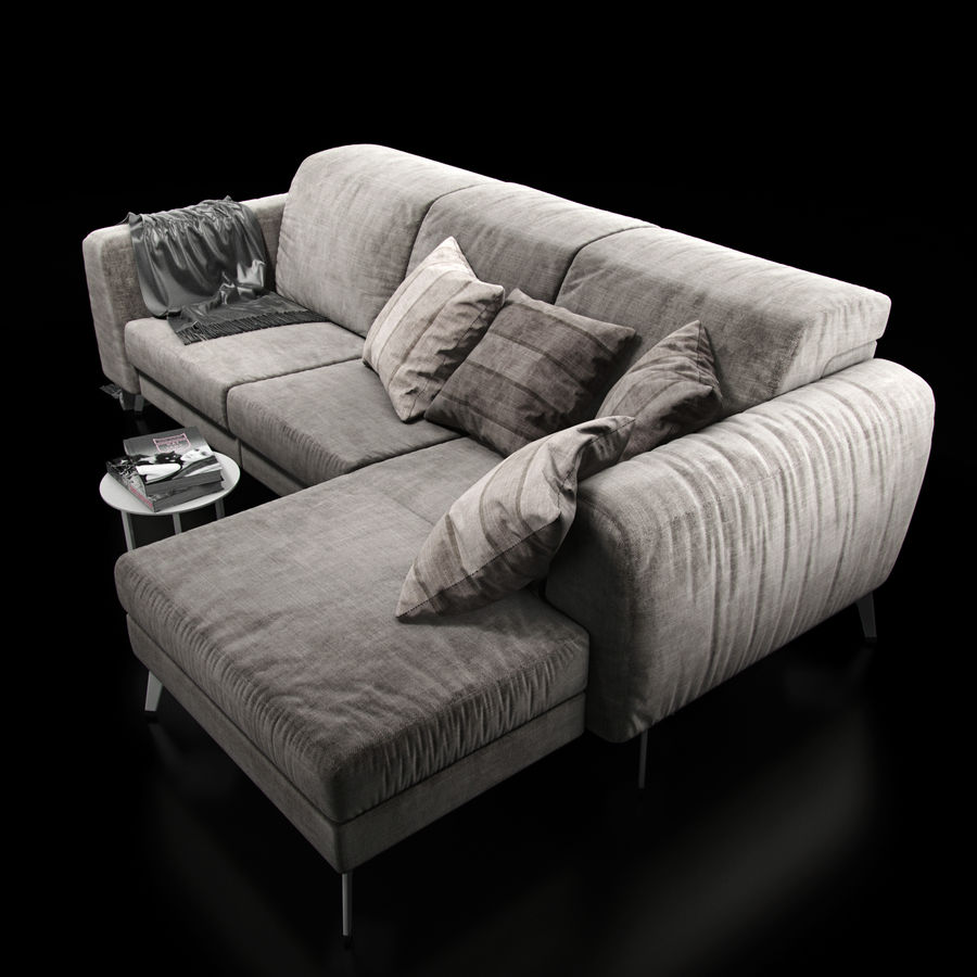 Sofá BoConcept Madison royalty-free modelo 3d - Preview no. 7