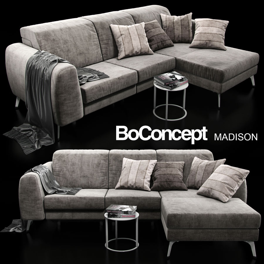 Sofá BoConcept Madison royalty-free modelo 3d - Preview no. 1