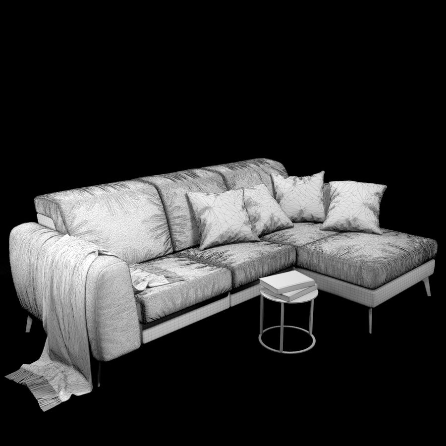 Sofá BoConcept Madison royalty-free modelo 3d - Preview no. 8