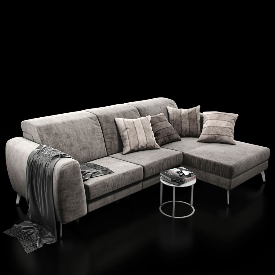 Sofá BoConcept Madison royalty-free modelo 3d - Preview no. 6