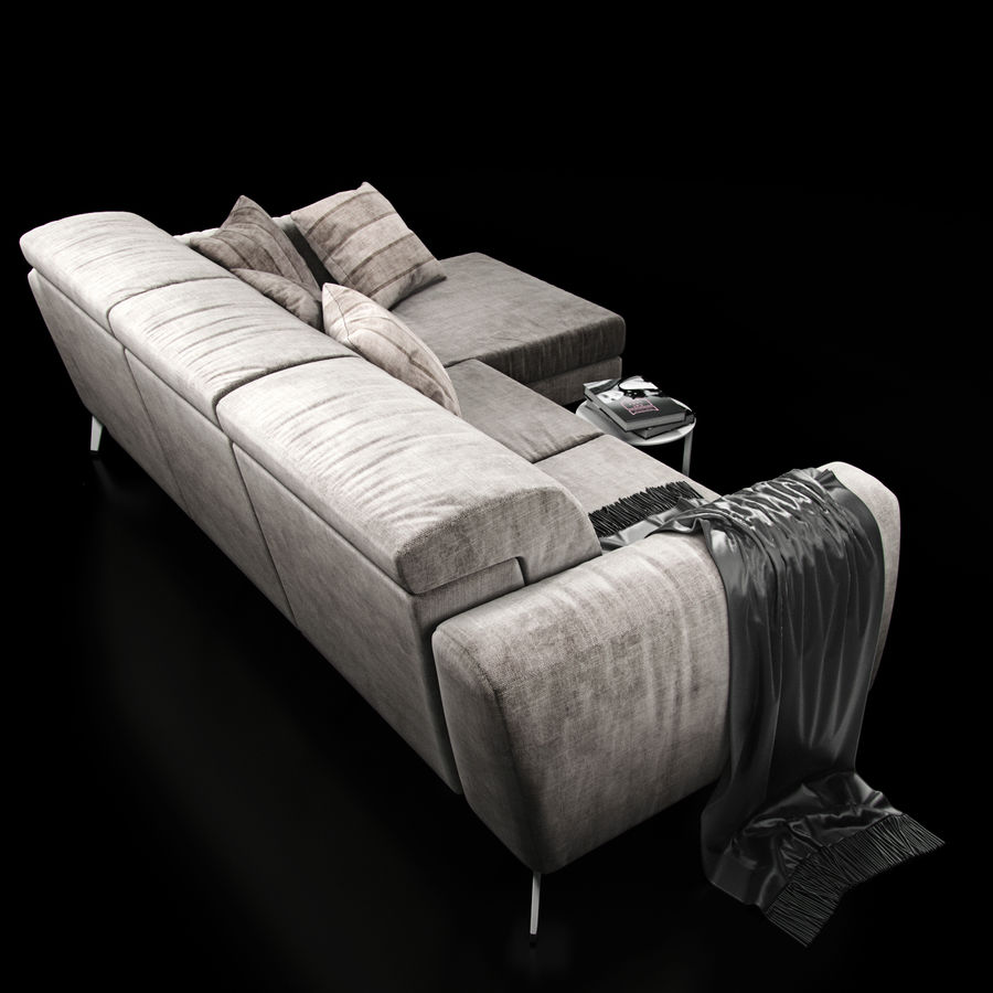 Sofá BoConcept Madison royalty-free modelo 3d - Preview no. 4
