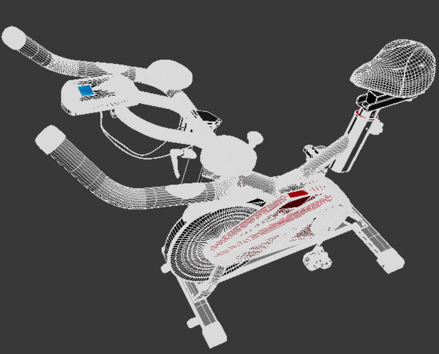 Exercise Bike royalty-free 3d model - Preview no. 9