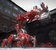The Walking Mech Neck Red Version 3d model