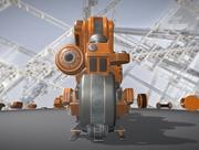 Walking Mech Neck Orange-versionen 3d model
