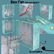 박스 팬 FBX OBJ 3d model