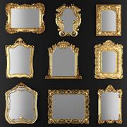 Samling av speglar 3d model