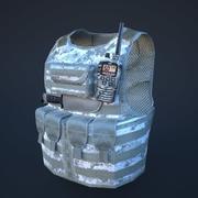 body armor winter 3d model