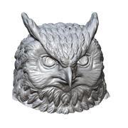 escultura da cabeça da coruja imprimível 3d model