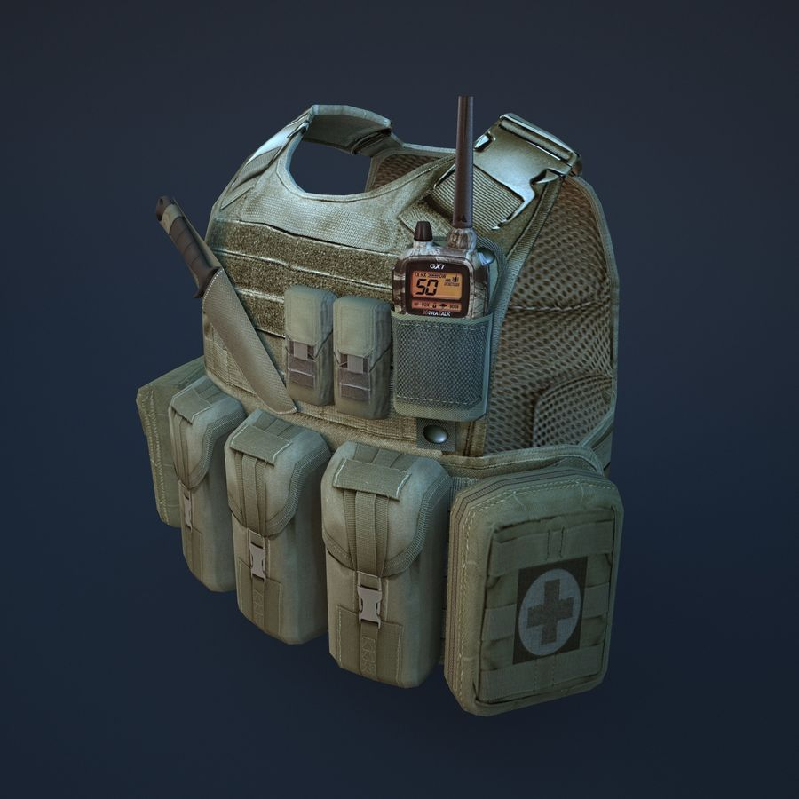 body armor royalty-free 3d model - Preview no. 3