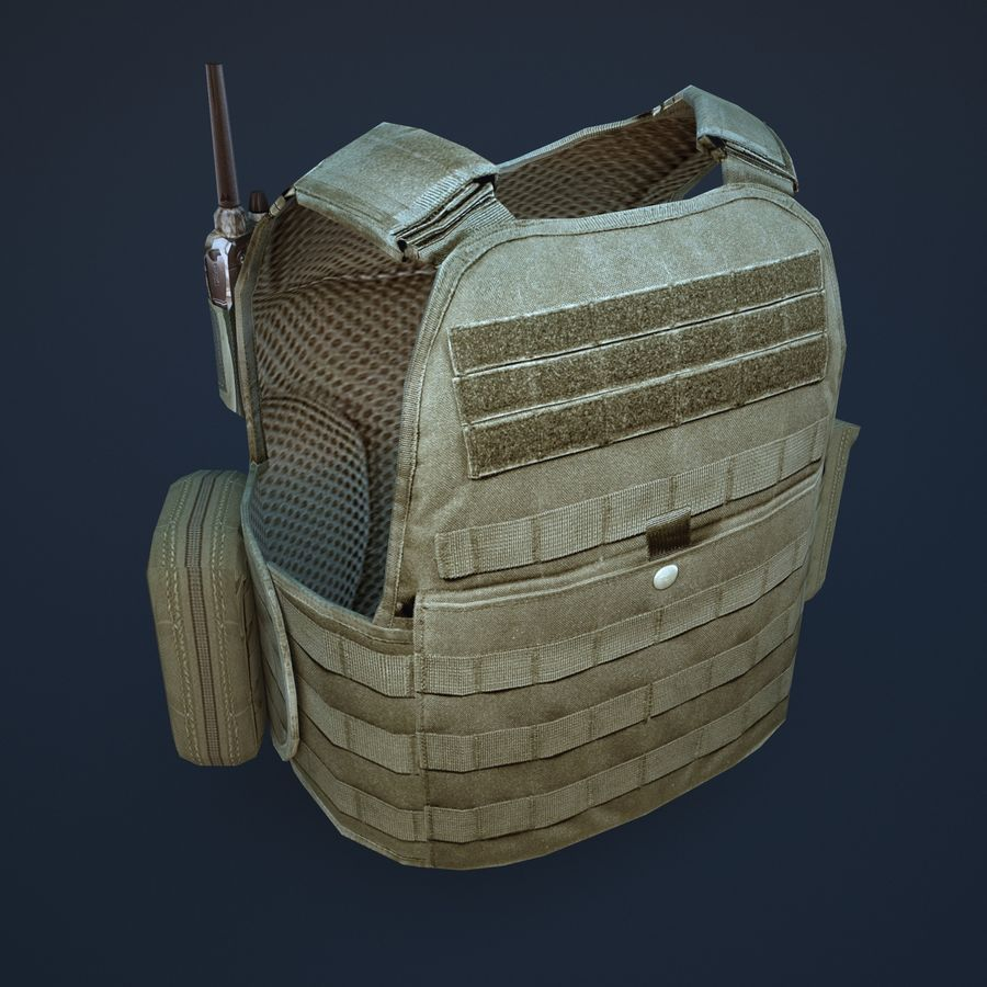 body armor royalty-free 3d model - Preview no. 5