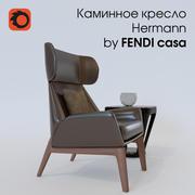 chaise de cheminée Hermann 3d model