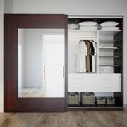 Armoire avec vêtements 3d model