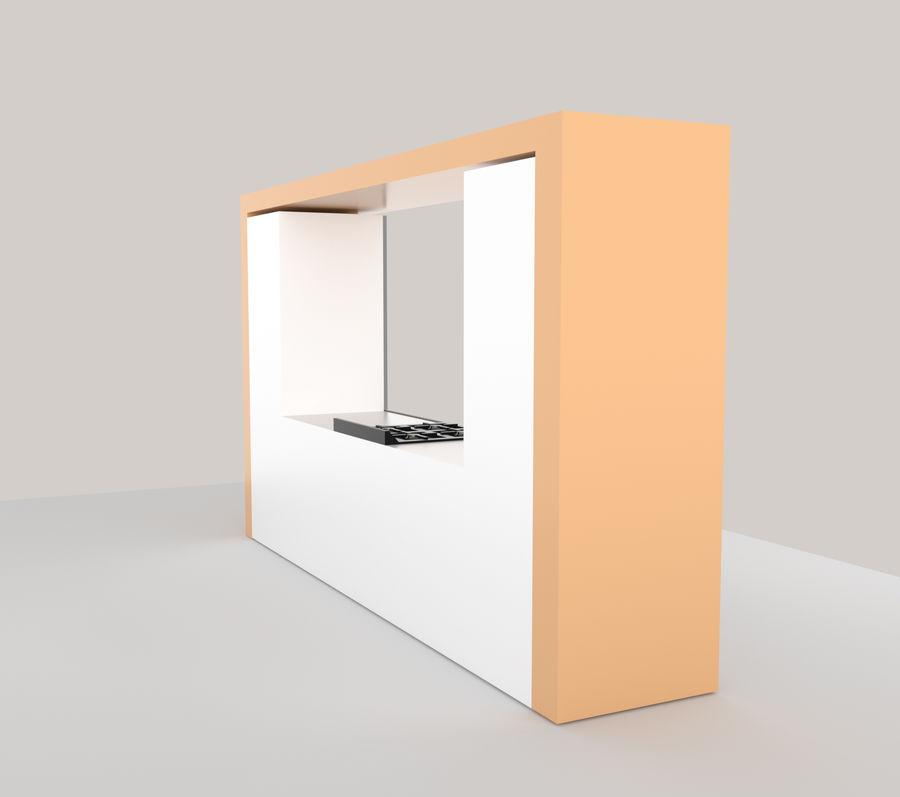 Muebles de cocina royalty-free modelo 3d - Preview no. 3