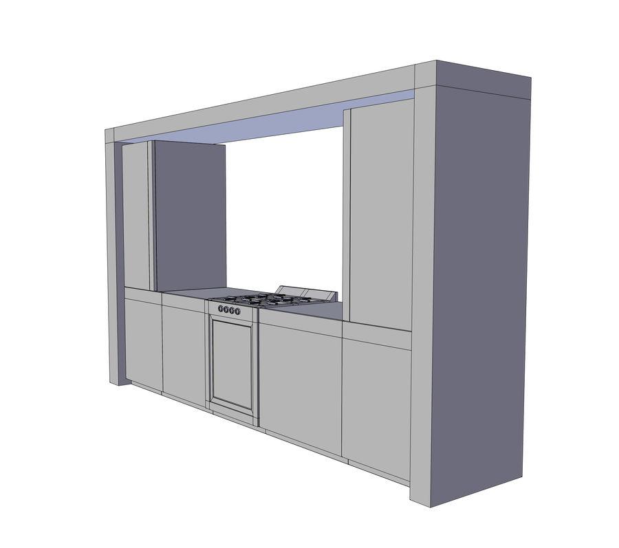厨房家具 royalty-free 3d model - Preview no. 5