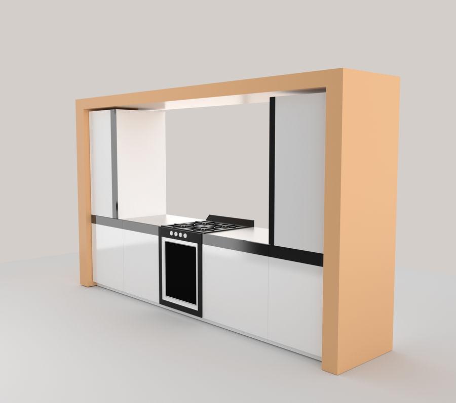 Muebles de cocina royalty-free modelo 3d - Preview no. 1