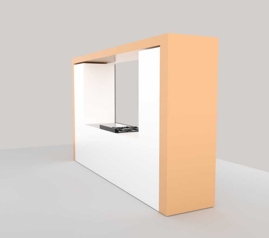 厨房家具 royalty-free 3d model - Preview no. 3