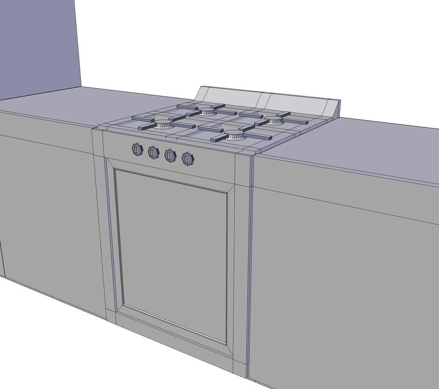 厨房家具 royalty-free 3d model - Preview no. 6