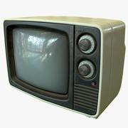 TV retrô - pronto para o jogo 3d model