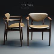Finn Juhl 109 sandalye 3d model