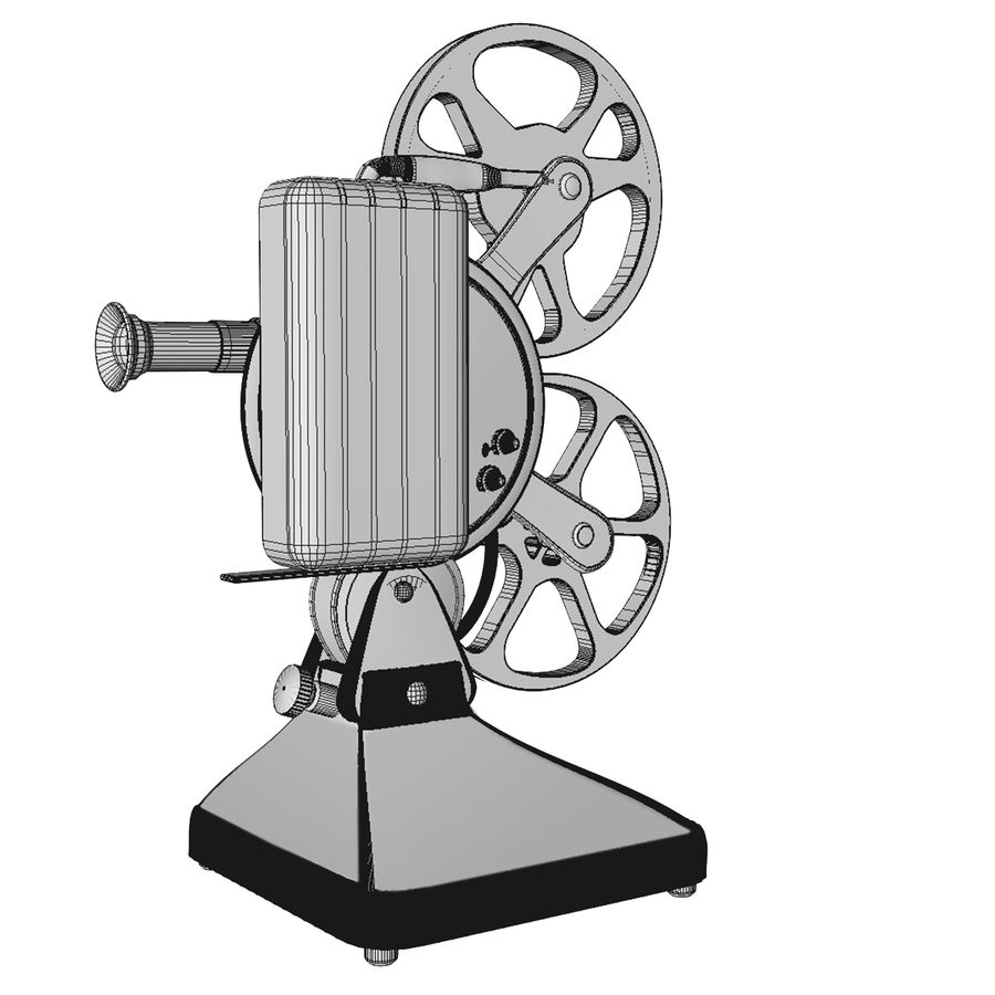 Film Projector royalty-free 3d model - Preview no. 7