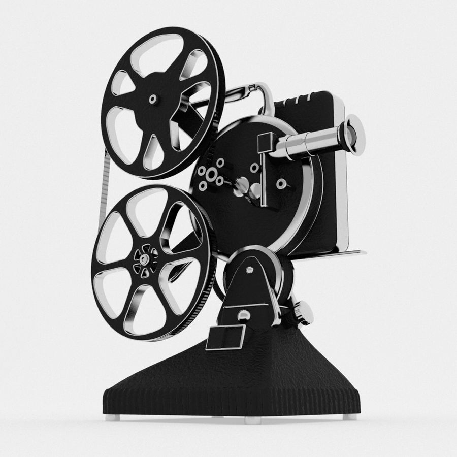 Film Projector royalty-free 3d model - Preview no. 5