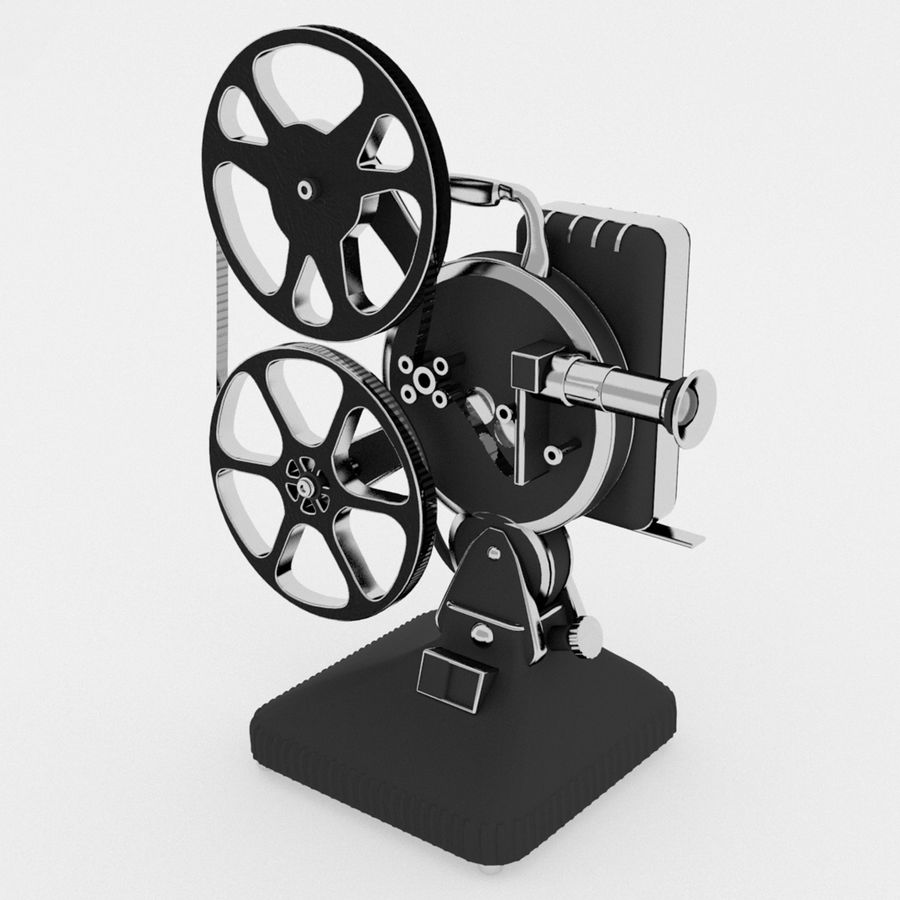 Film Projector royalty-free 3d model - Preview no. 2