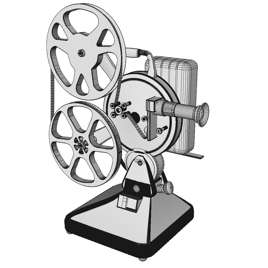 Film Projector royalty-free 3d model - Preview no. 8