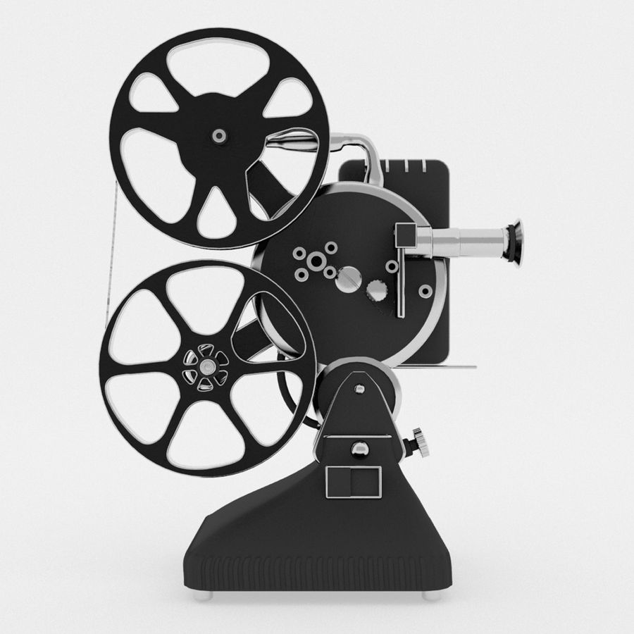 Film Projector royalty-free 3d model - Preview no. 3