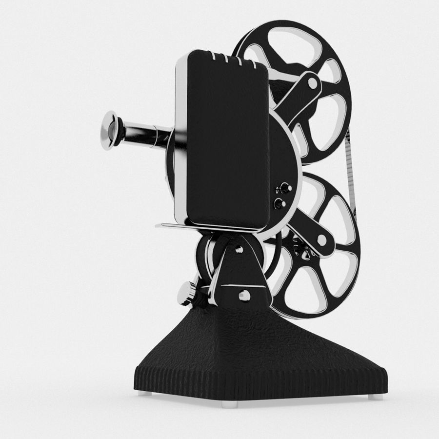 Film Projector royalty-free 3d model - Preview no. 6