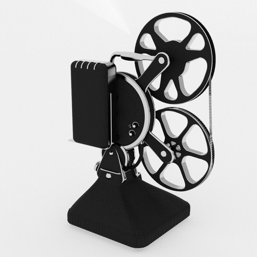Film Projector royalty-free 3d model - Preview no. 4