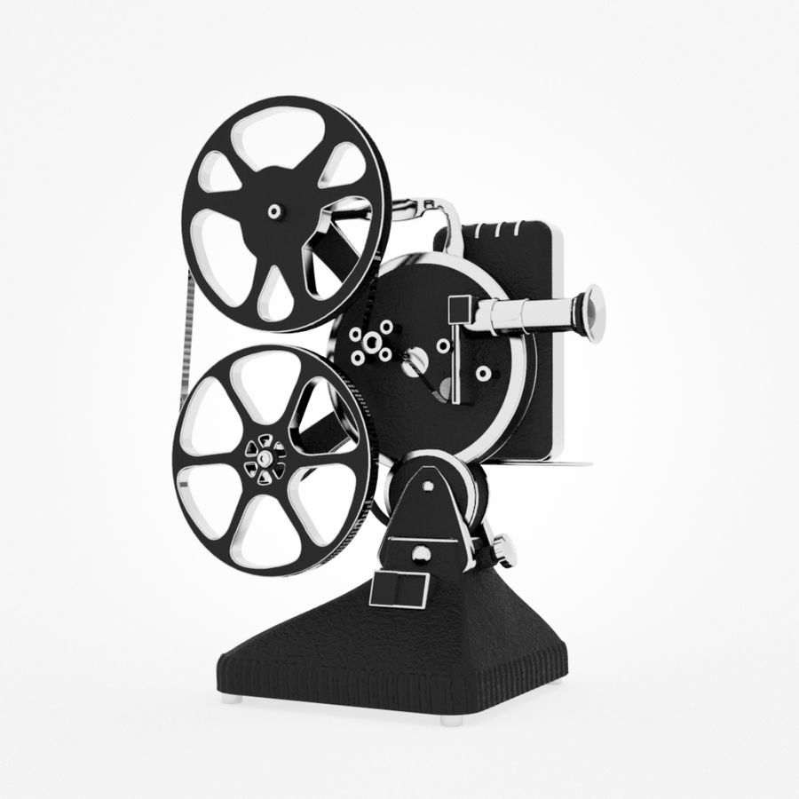 Film Projector royalty-free 3d model - Preview no. 1