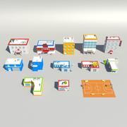 низкополигональная сборка 3d model