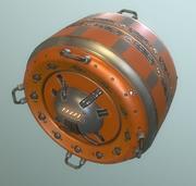 AI Control Module Orange Version 3d model