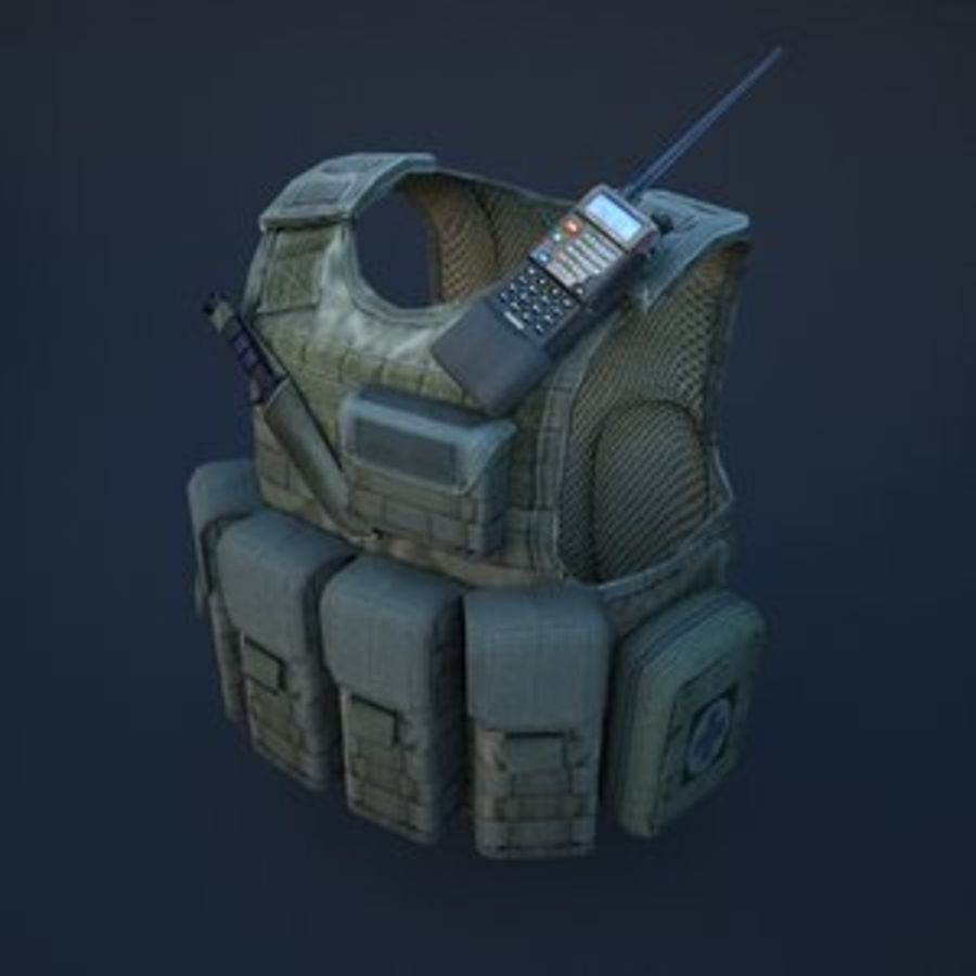 body armor royalty-free 3d model - Preview no. 1