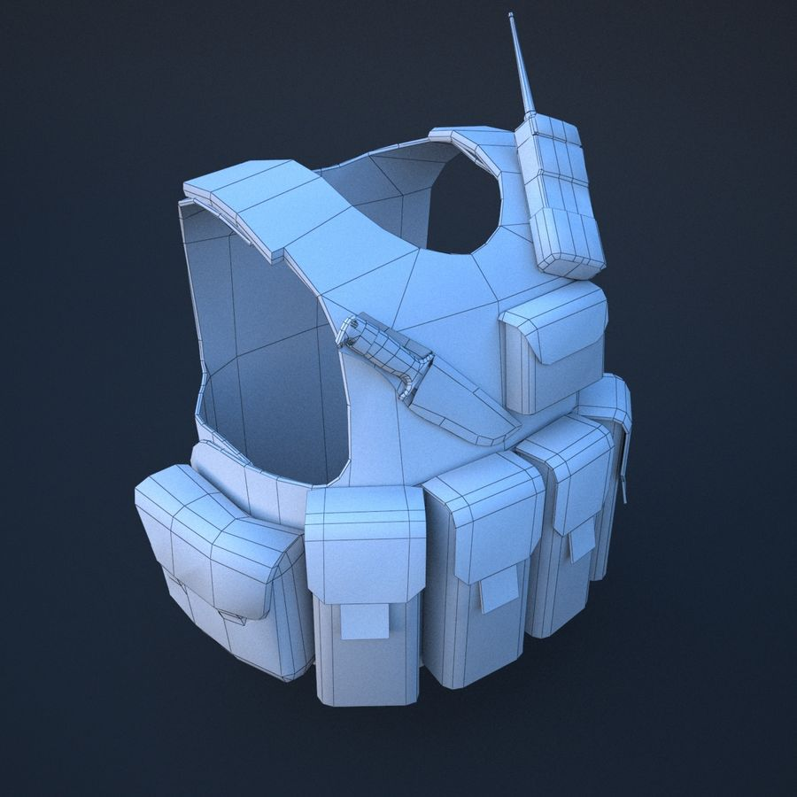 body armor royalty-free 3d model - Preview no. 8