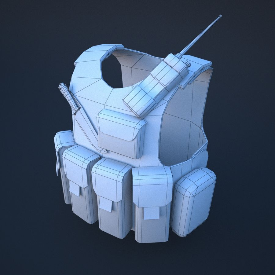 body armor royalty-free 3d model - Preview no. 7