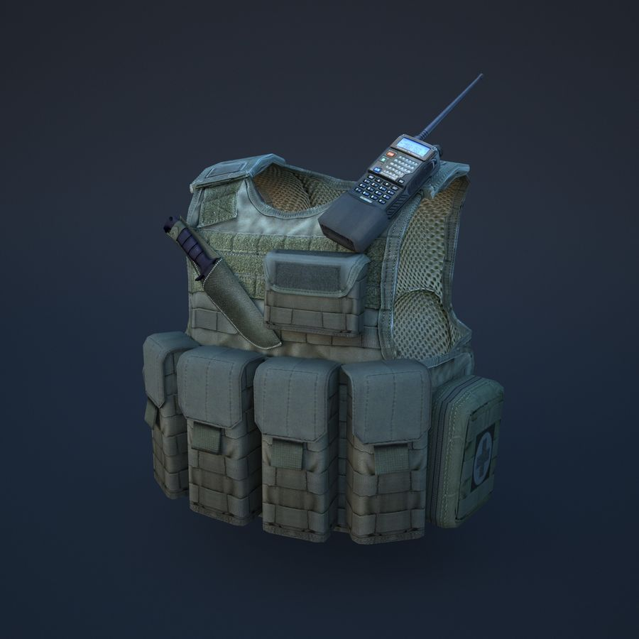 body armor royalty-free 3d model - Preview no. 2