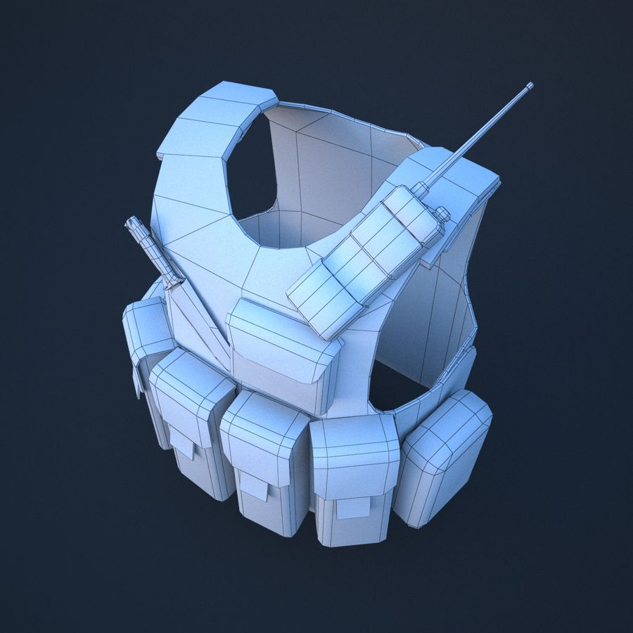 body armor royalty-free 3d model - Preview no. 10