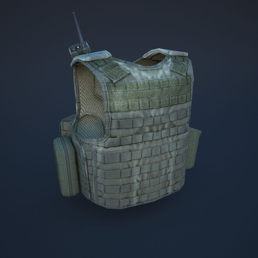 body armor royalty-free 3d model - Preview no. 4